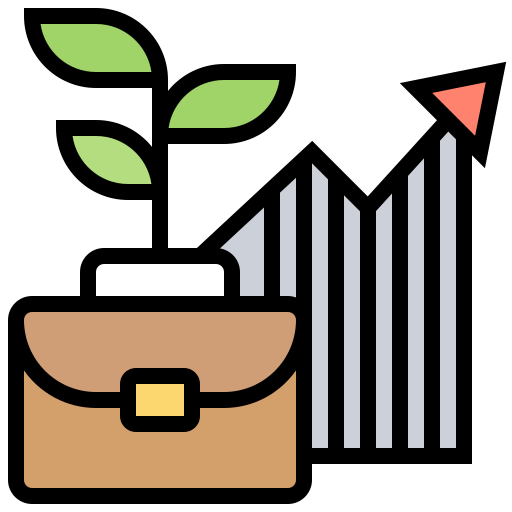 Growth and progress icon created by Eucalyp on Flaticon.com.