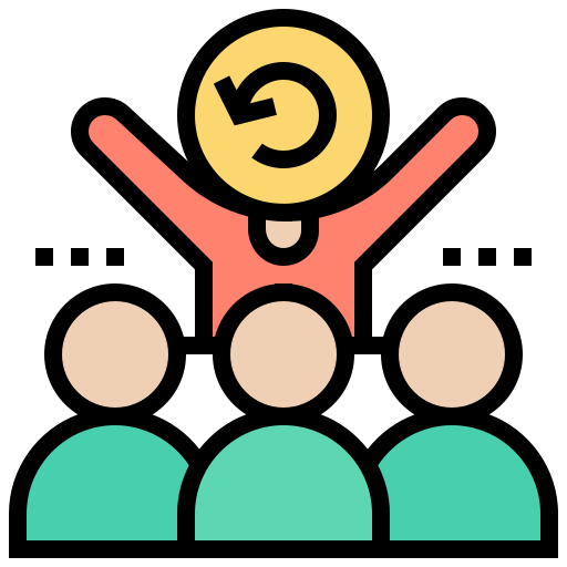 Icon of an Agile Team created by Eucalyp on Flaticon.com.